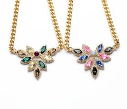 Wholesale-fashion necklaces for women 2015 hot selling The new color crystal joker adorn article dress accessories