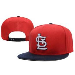 Promotion snapbacks pas cher retour St Louis Cardinals Snapback équipe Sport Caps pas cher des chapeaux de base Hommes Femmes Snap Back Caps Marque snapbacks Nouveau Style plates Chapeaux pour l'été