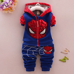 Children Sets For 2018 Autumn Cartoon Kids Clothing Suit Long-sleeved Coat + Leisure Trousers Two-piece Leisure Suit CD318