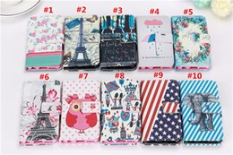 Vogue Design Painting Wallet PU Leather Flip Case Stand With Credit Card Holder For iPhone 6 Plus Samsung Galaxy S4 Note 4 Sony Z2 Z3