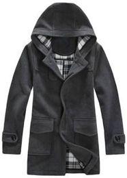Fall-2015 Fashion Brand Mens Wool Winter Coats Plus Size Long Overcoat Men Pea Coat Brand Coat Free Shipping Down Jacket Overcoat