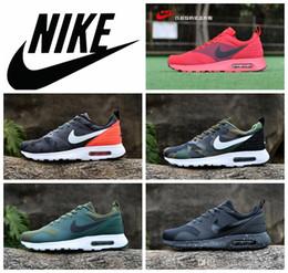 Discount Shoes Run Air Max Nike Air Max 87 Tavas 87 Camouflage men Running Shoes 100% original all black air max thea Sport Shoe 2016 hot nike athletic shoe size 40-45