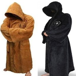 Wholesale Star Wars Jedi Bath Robe costumes hot star war Knight Bath Adult Albornoz Carnival Cosplay Costume for men wholesales