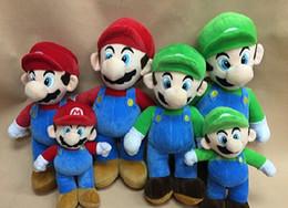 Wholesale 20pcs inches cm NEW SUPER MARIO BROTHERS PLUSH MARIO AND LUIGI DOLLS mario and luigi plush doll toys