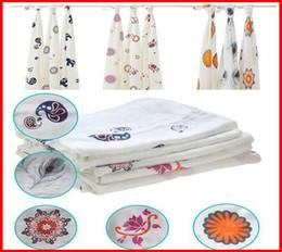 Размеры одеяло для продажи-Fedex пошлины 2 015 Аден Анаис Многофункциональный новорожденных Пеленальный 100% бамбук муслин пеленает Большой размер ребенка полотенцем Детские одеяла 120x120cm 47 * 47inch
