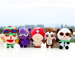 Wholesale 7 cm LOL League of Legends Annie Bear Kennen Teemo Panda Lee Sin Styles Plush Toys and Dolls