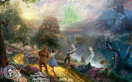 Wholesale Original HD Pure hand painted oil painting on canvas The wizard of oz Dorothy x36inch