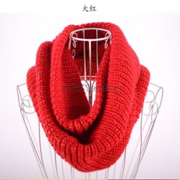 6 Colors knitted Scarfs Mens And Women Infinity Scarves Gold Thread Winter Neck Ring Neckerchief 2 Circle 10pcs Free Shipment