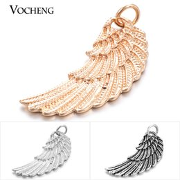 Angel Wings Charm Slide Pendant 3 Colors Fashion DIY Jewelry Accessories VA-075
