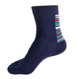 Wholesale-Superior 1 Pair Men Middle Tube Sports Running Five Finger Toe Socks Cotton Socks Au25