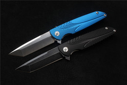 Wholesale Brian Nadeau Tactical Survival Typhoon Flipper Bearing Knife D2 Blade Blue Black Alu Sheet Handle