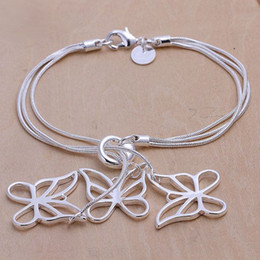 Hot sale best gift 925 silver Tai Chi hang three butterfly bracelet DFMCH166,brand new 925 sterling silver plated Chain link bracelets
