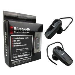 Wholesale Cheapest Iphone Box - Cell Phone Mini Bluetooth Headphone Mono Wireless Headset with Micphone for iphone samsung htc Nokia Retail Box (2015 Cheap Headphone)