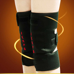 Wholesale 1 Pair Tourmaline self heating kneepad Magnetic Therapy Massager Knee support Self heating Belt knee Massager belt