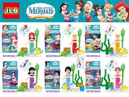 Wholesale JLB girls little mermaid minifigures block toys girls princess friends building block toys