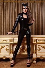 Patent leather cat girl costumes sexy nightclub night games DS games to play dress uniforms work clothing wholesale Batman