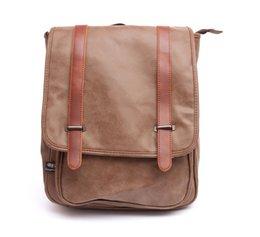 Wholesale Men Women Vintage College Style Best Quality PU Leather Backpack Versatile Laptop Racksack Male Travel Hiking Bags