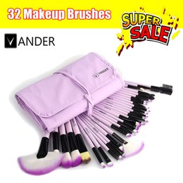 Wholesale 32Pcs Print Vander Makeup Brushes Professional Cosmetic Make Up Brush Set The Best Quality