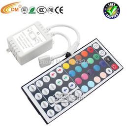 Wholesale 44 key LED Controller RGB Color RC Remote Control IR RC for Led Strip Lights V A
