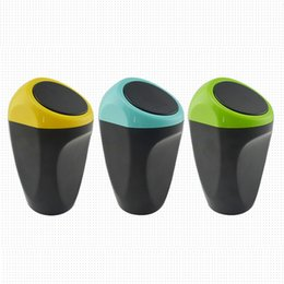Wholesale Universal Auto Car Trash Plastic Dustbin Rubbish Bin Garbage In Car Travel Rubbish Stowing Tidying Cute Car Storage Box High Quality