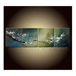 Wholesale Handmade Modern Abstract Asian Zen Plum Blossom Oil Paintings Canvas
