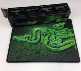 Wholesale-New Perfect Package Thicker 3D Razer Goliathus Gaming Mouse Pad 320*245*4mm Well Bounded Mousepad Mat Control Version for Games
