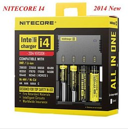 Wholesale 2014 Hotsale Nitecore I4 Digicharger LCD Display Battery Charger Universal Nitecore Charger Retail Package Charging Cable