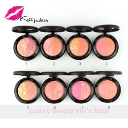 Wholesale Best sell Price Brand New Makeup blush bronzer Baked Cheek Color blusher palette Sugar box
