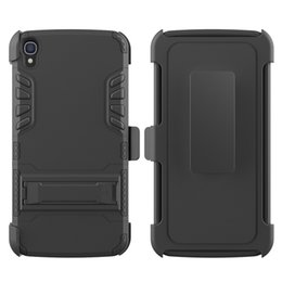 New Design 3 in 1 Super Combo Case With Clip Shockproof Cell Phone Case For Alcatel one touch Ido1 3 6045