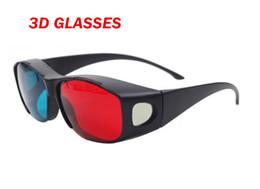 Película al rojo vivo en venta-2015 vidrios universales del tipo 3D vidrios 3D ciánicos rojos azules vidrios 3D plásticos del plástico 3D de la visión del Anaglyph vidrios calientes de la película 3D