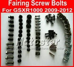 Wholesale Motorcycle Fairing screw bolts kit for SUZUKI GSXR K9 GSXR1000 black fairings aftermarket bolt screws set