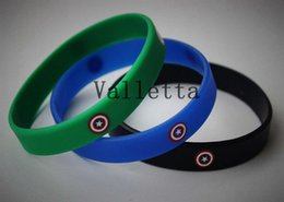 Wholesale Captain America Logo New sports wristband silicone multicolor power bands energy bracelets