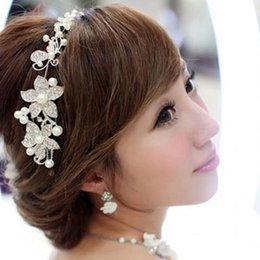 Wholesale Bridal Bridesmaid Pearl Diamante Butterfly Love Flower Headband Wedding Tiara