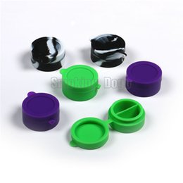 Wholesale Smoking Dogo Latest Non stick BHO Colorful Round Partitioned Silicon Jars Dab Wax Vontainer cm x cm