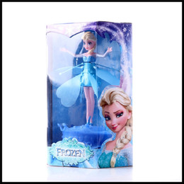 RC Helicopter Flying Induction Frozen Toys Frozen Princess doll Music Elsa Anna Dolls Party Toys