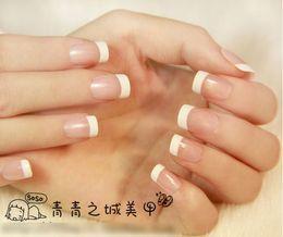 Wholesale-10 sets lot 24 pcs French False nails for women fashion fake Nail Tips free shipping