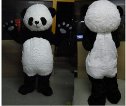 free shipping 2015 Custom Lovely Plush Panda Mascot Costume Adult Size Festival Costumes Fancy Dress Outfit Suit Party Carnival Costume