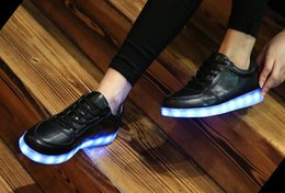 7 Colors LED luminous shoes unisex sneakers men & women sneakers USB charging light shoes colorful glowing leisure flat shoes black colors
