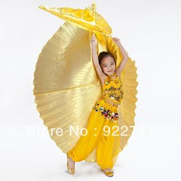 2015 NEW Cute Kids Angel Isis Wings Professional Belly Dance Costume Accessories For Children Golden Silver