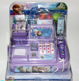 Wholesale kids Frozen Cash Register kids Elsa Anna Pretend Play Furniture Toys children boys girls Educational Interactive toys Christmas Gifts