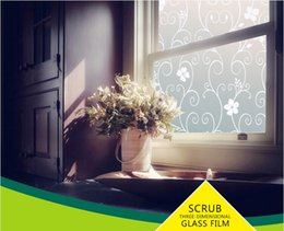 Wholesale 40cm width Frosted UV static cling transparent sunscreen bathroom reusable frosted window film