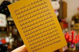 Wholesale Freeshipping Korea stationery Vintage Cute Friendship greeting card wedding card dandys