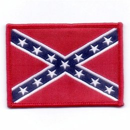 Wholesale Factory Price CONFEDERATE FLAG UNIFORM Iron On patch CIVIL WAR REBEL Sew ON PATCH ARMY MORALE MILITARY Embroidered Appliques DIY Accessories