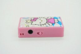 The Newest High Quality Mini Hello Kitty MP3 Music Players Support TF Card With Hello Kitty Earphone&Mini USB
