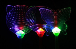 Hot Cool LED Light Fans Glowing Hand Fan Luminous Children Gifts Toy Novelty 20