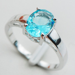 Wholesale Aquamarine Sterling Silver Wedding Party Attractive Design Ring Size PR05 Min order is