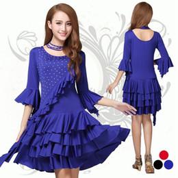 Short sleeves black blue red beading ruffled modern dance dresses, latin dance costumes, ballroom latin dance dress,ballroom dance skirts