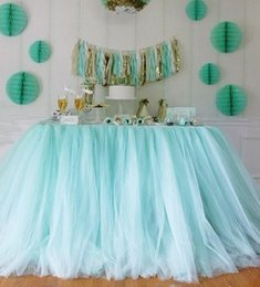 Wholesale Colorful Tulle Tutu Table Skirts cm cm for Party Festival Wedding Event Party Decorations Suppliers Chair Cover Ribbons Custom Made