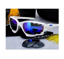Wholesale - 100% mens Sunglasses Bicycle Cycling Eyewear Glasses Sport UV400 3 Lens Sunglasses Lens Goggles 24Color can mix order
