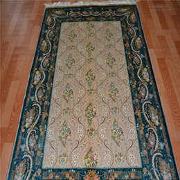Wholesale modern design persian hand knotted indian silk wall hanging carpet thin rugs in china